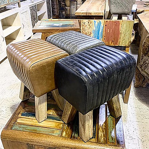 SOLD! Leather Stool