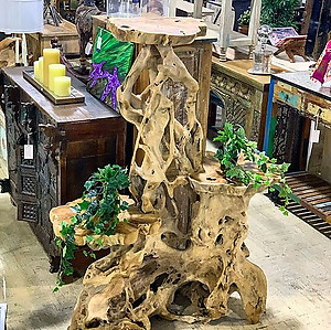 SOLD! Teak Root Display Stand