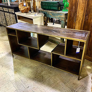 SOLD! Industrial Media Console Table