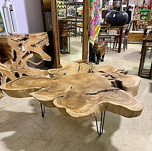 SOLD! Teak Star Table