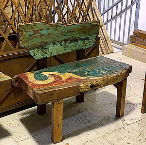 Freeform Boatwood Bench