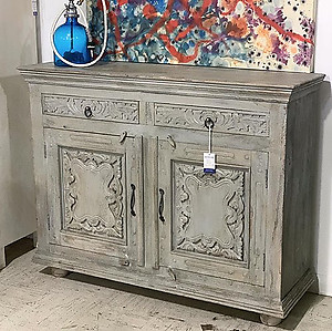 Carved Panel Sideboard
