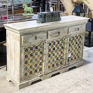 SOLD! Tile Wood Sideboard