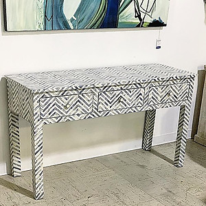 SOLD! Bone Inlaid Console Table