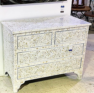 SOLD! Mother of Pearl Inlaid Chest of Drawers