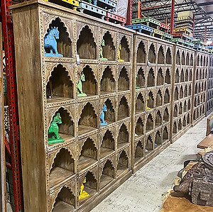 Arched Carved Book Case