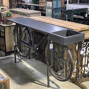 SOLD! Bicycle Console Table