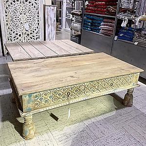 SOLD! Carved Wood Coffee Table
