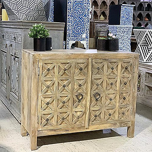 Carved Wood Cabinet