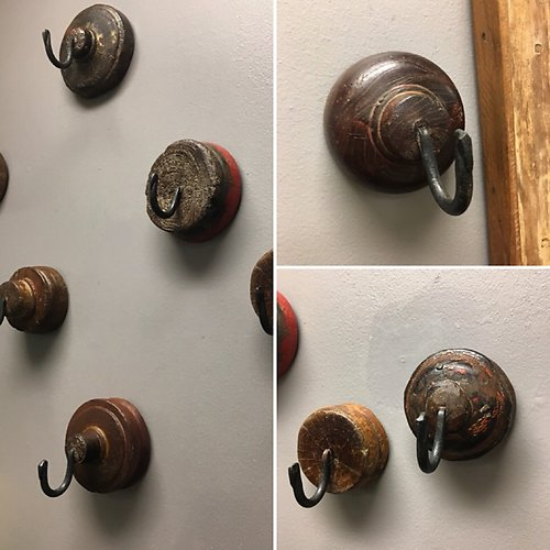 Assorted Reclaimed Pulley Wall Hooks