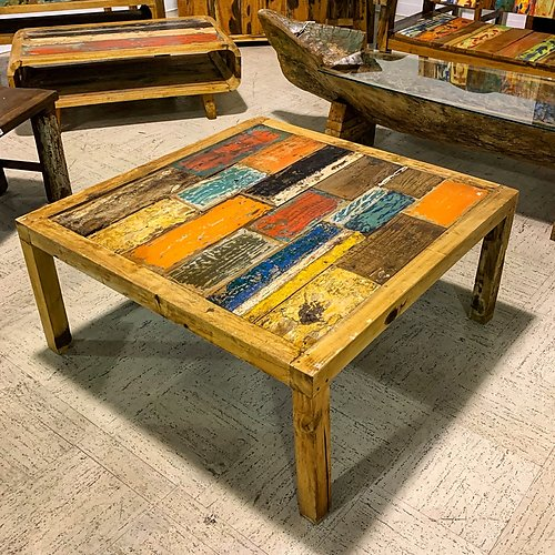 Sold! Boatwood Outdoor Coffee Table
