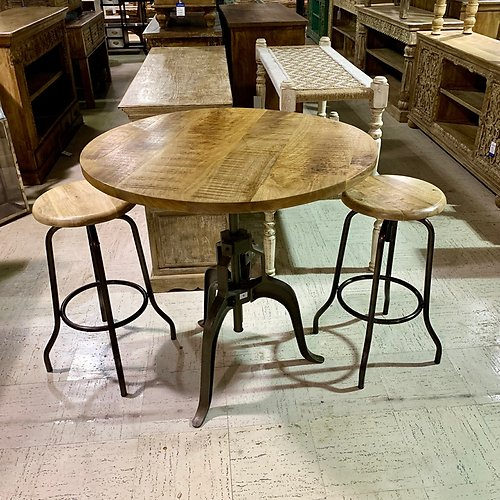 Sold! Round Crank Table