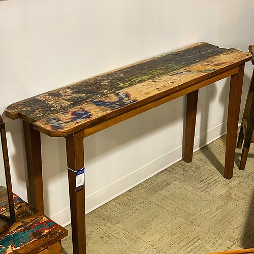 Sold! Boatwood Teak Console Table