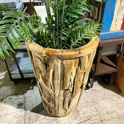 Sold Teak root large planter