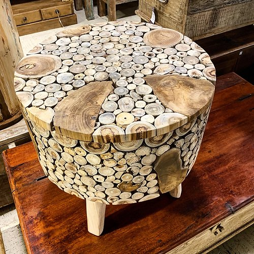 Sold Teak Root Side Table