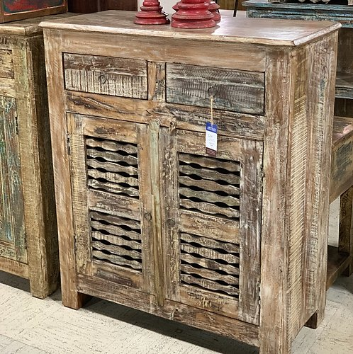 SOLD! Shutter Panel Sideboard with drawers