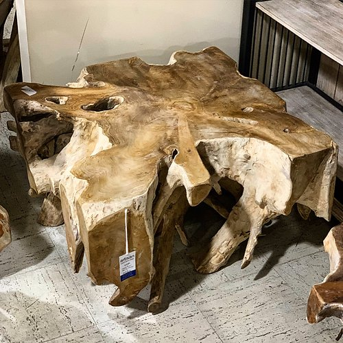 Sold Teak Root Square Coffee Table