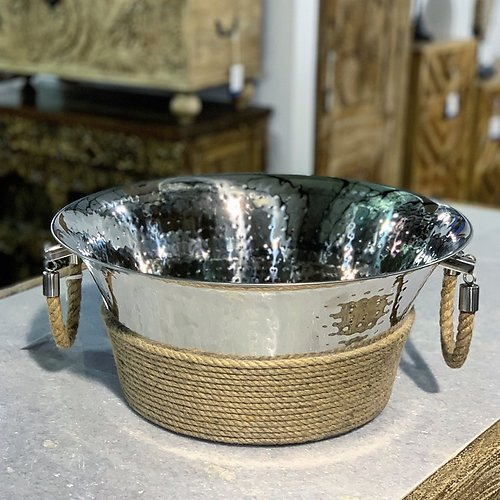 Stainless Steel and Jute Chiller Tub