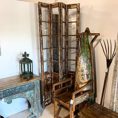 SOLD! Reclaimed Door Panel Room Divider