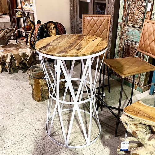 Round Top Bar High Table