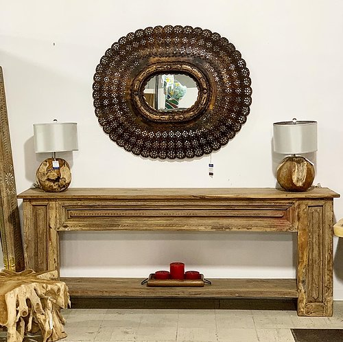 SOLD! Peacock Wood Mirror