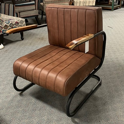 Sold! Retro Leather and Metal Chair