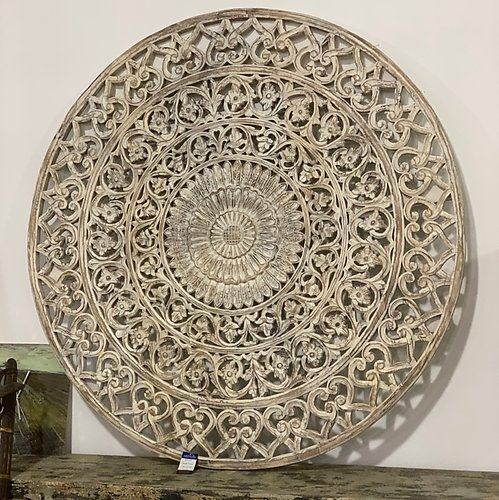 Carved Round Wall Panel