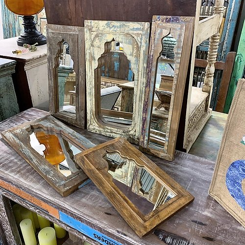 Sold! Small Reclaimed Wood Mirror
