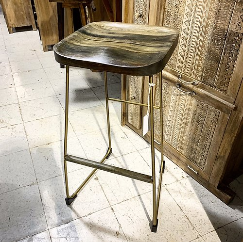 Sold! Industrial Bar Stool