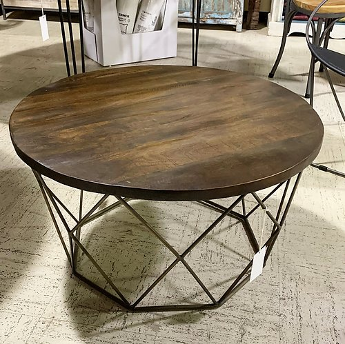 Sold! Industrial Round Coffee Table