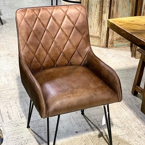 Sold! Leather and Metal Chair
