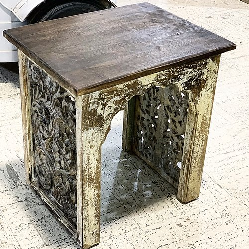 Arched Carved Side Table