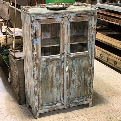 SOLD! Distressed Wood Storage Cabinet