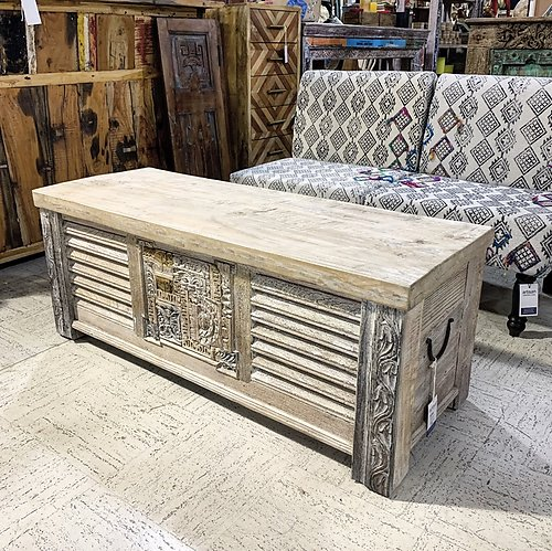 SOLD! Light Washed Wood Trunk