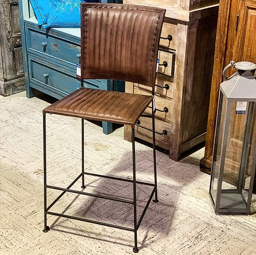 Sold! Leather Counter High Chair