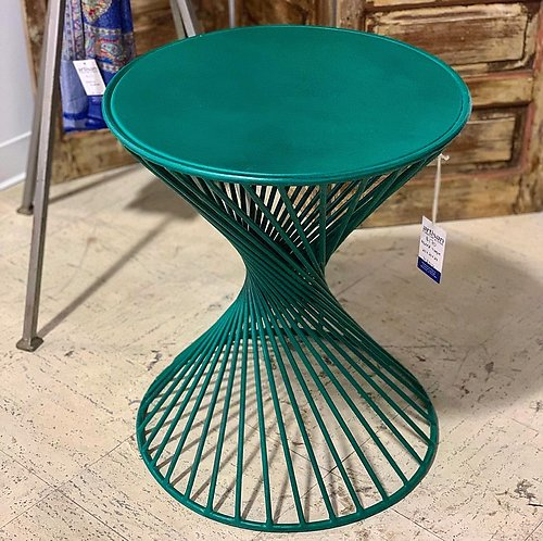 Painted Metal Side Table