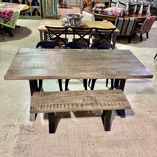 Distress Gray Dining Table