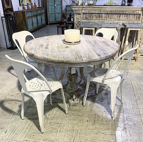 SOLD! Round Wood Table