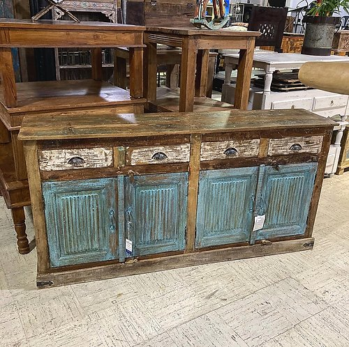 Sold! Panel Wood Sideboard