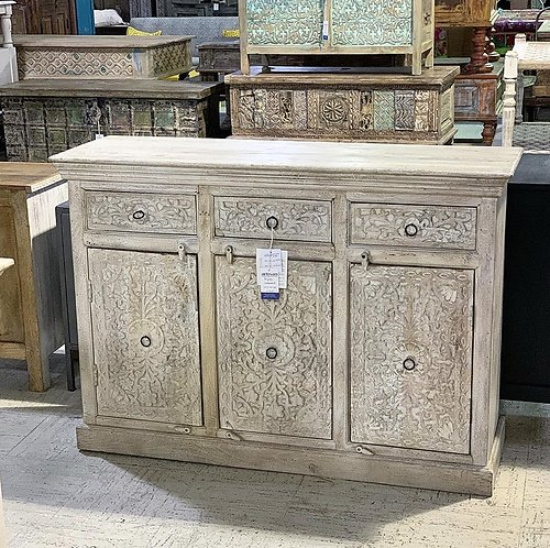SOLD! Carved Wood Sideboard