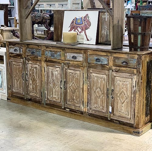 SOLD! Panel Carved Sideboard