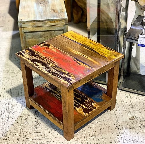 SOLD! Boatwood Outdoor Side Table