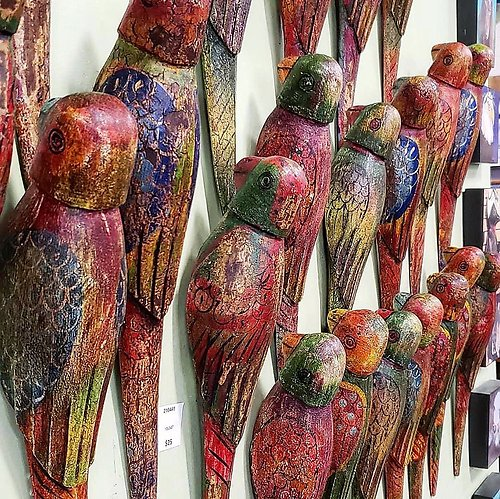 Wood Parrot Wall Decor