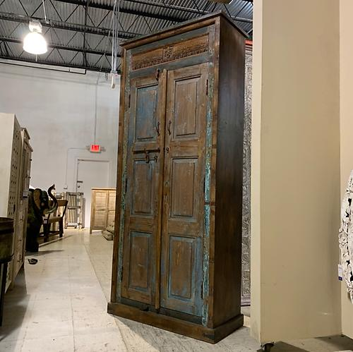 Sold! Distressed Tall Storage Cabinet