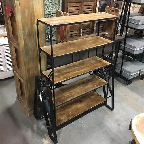Industrial Bookshelf Table